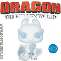 Funko Pop! How to Train Your Dragon 3 Light Fury Glitter Edition Limitée