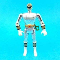 Power Rangers White Ranger Chrome Figurine articulée d'occasion (Loose)