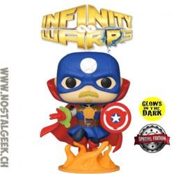 Funko Pop Marvel Infinity Warps Soldier Supreme Phosphorescent Edition Limitée
