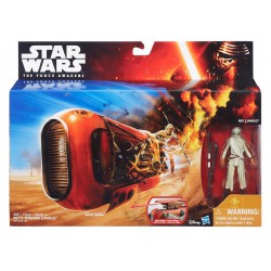 Star Wars The Force Awakens Rey's Speeder (Jakku) Hasbro Figure