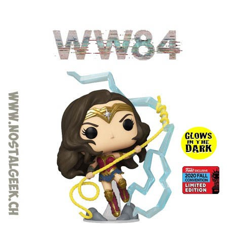 Funko Pop DC NYCC 2020 WW84 Wonder Woman GITD Exclusive Vinyl Figure