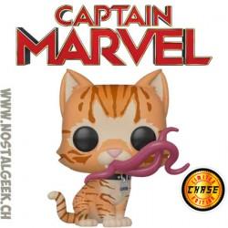 Funko Pop Marvel Captain Marvel Goose (Flerken) Chase Edition Limitée boîte abîmée