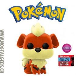 Funko Pop Pokemon NYCC 2020 Growlithe (Caninos) Flocked Edition Limitée Boîte abîmée