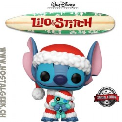 Funko Pop Disney Santa Stitch with Scrump Edition Limitée