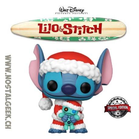 Funko Pop Disney Lilo & Stitch Santa Stitch with Scrump Exclusive Vinyl Figure