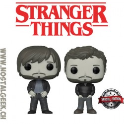 Funko Pop Stranger Things Upside Down The Duffer Brothers 2-pack Edition Limitée Vaulted