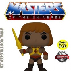 Funko Pop Masters of the Universe He-Man (Raising Sword) Phosphorescent Edition Limitée