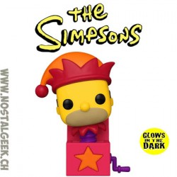 Funko Pop Cartoons The Simpsons Jack-in-the-Box Homer Phosphorescent Edition Limitée