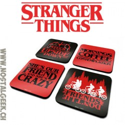 Stranger Things Shippuden 4 Coasters Set