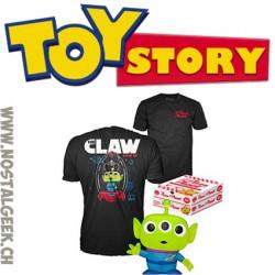 Funko Pop Toy Story Pizza Planet T-Shirt & Alien (Translucent Glitter) vinyl Figure Box Set Exclusive