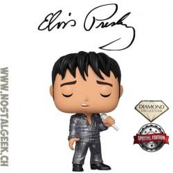 Funko Pop Rocks Elvis '68 Comeback Special (Diamond Glitter) Edition Limitée
