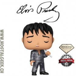 Funko Pop Rocks Elvis '68 Comeback Special (Diamond Glitter) Exclusive Vinyl Figure