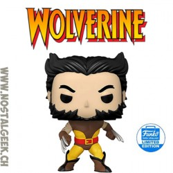 Funko Pop Marvel Wolverine (Unmasked) (Brown Suit) Exclusive Vinyl Figure