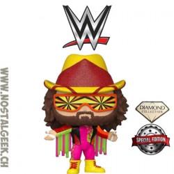 "Funko Pop WWE ""Macho Man"" Randy Savage (Orange Starburst) (Diamond Glitter) Edition Limitée"