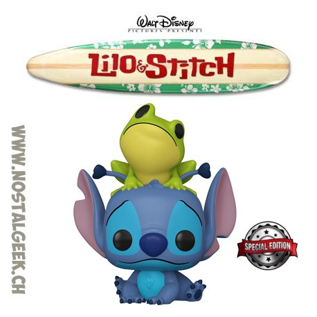 Funko Pop Disney Lilo & Stitch - Stitch with Frog Exclusive Vinyl Figure