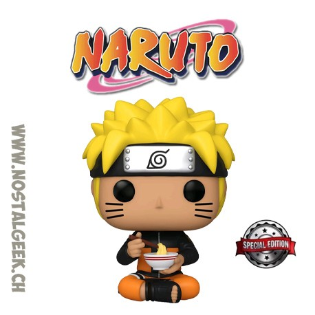 Funko Pop! Anime Manga Naruto Shippuden Naruto Uzumaki (Eating Noodles) Exclusive Vinyl Figure