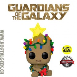 Funko Pop Marvel Holiday Groot Phosphorescent Edition Limitée