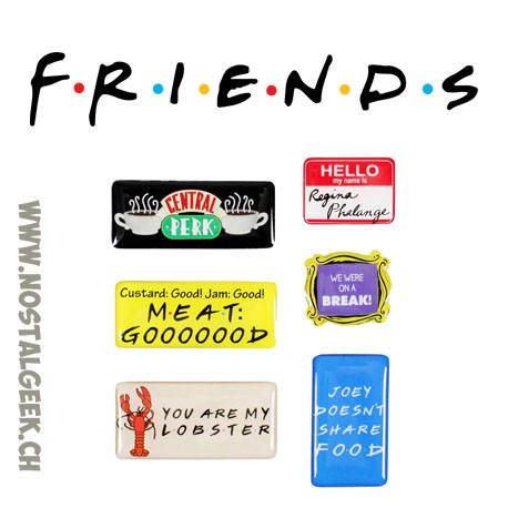 Friends Set of 6 Magnets quotes