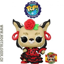 Funko Pop Around the World Carmen (Spain) + Pin's Exclusive Vinyl Figure
