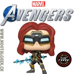 Funko Pop Games Marvel Black Widow (Avengers Game) GITD Chase Vinyl Figure