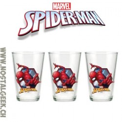 Marvel Spider-Man set of 3 glasses