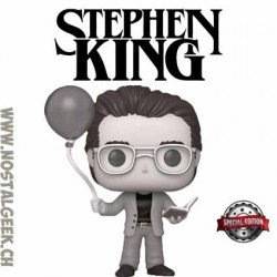 Funko Pop Icons Stephen King with Red Balloon (Black and White) Edition Limitée