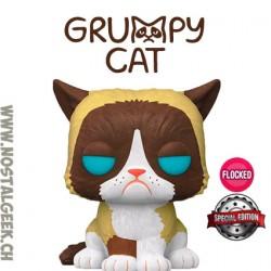 Funko Pop Icons Grumpy Cat Flocked Exclusive Vinyl Figure