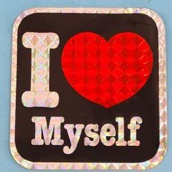 "Sticker vintage ""I Love Myself"" Second hand"