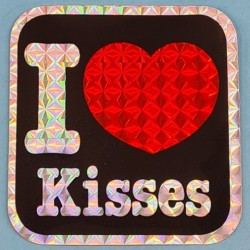 "Sticker vintage ""I Love Kisses"" Second hand"