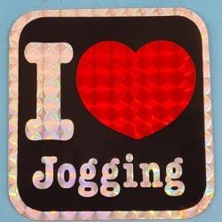 """Sticker vintage """"I Love Jogging"""" Second hand"""