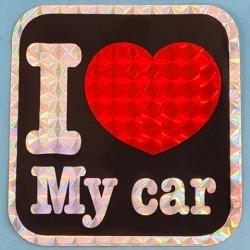 "Sticker vintage ""I Love My Car"" Second hand"
