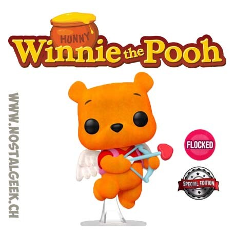 Funko Pop Disney Winnie the Pooh (Valentine's) Flocked exclusive Vinyl Figure