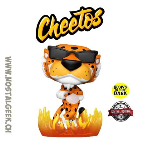 Funko Pop Ad Icons Cheetos Chester Cheetah (Flames) GITD Exclusive Vinyl Figure