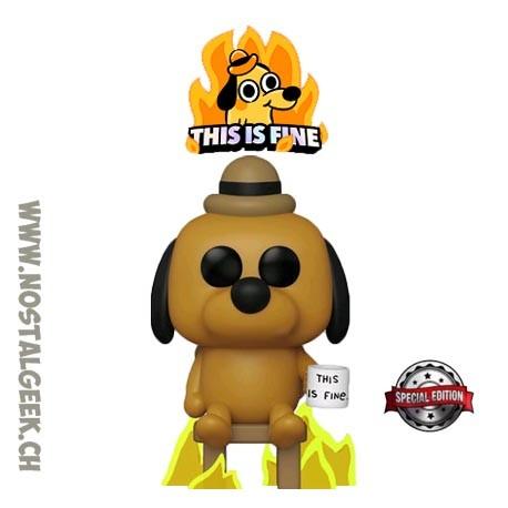 Funko Pop Icons This is Fine Dog Exclusive Vinyl Figure