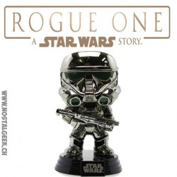 Funko Pop! Star Wars: Rogue One Imperial Death Trooper Chromée Edition limitée