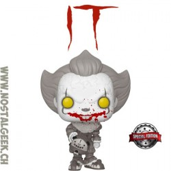 Funko Pop! Movie IT Pennywise (Gripsou) with Beaver Hat (Black and White) Exclusive Vinyl Figure