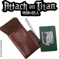 Attack On Titan Pouch and Notepad Set