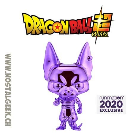 Funko Pop Dragonball Z Beerus (Purple Chrome) Exclusive Vinyl Figure