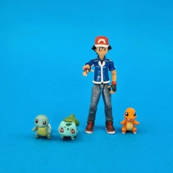 Pokemon Ash + Squirtle + Charmander + Bulbasaur second hand action figure (Loose)