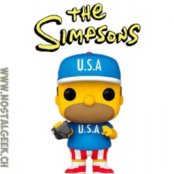 Funko Pop Cartoons The Simpsons U.S.A. Homer Vinyl Figure