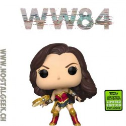 Funko Pop ECCC 2021 DC Wonder Woman with Tiara Boomerang (Metallic) Edition Limitée
