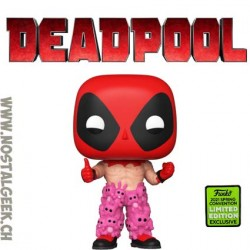 Funko Pop ECCC 2021 Marvel Deadpool (with Teddy Pants) Edition Limitée