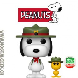 Funko Pop! Peanuts Beagle Scout Snoopy With Woodstock Exclusive Vinyl Figure
