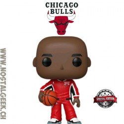 Funko Pop Basketball NBA Michael Jordan (Red Warm-Ups) Chicago Bulls Edition Limitée
