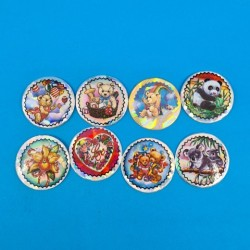Set of 8 second hand Pogs Teddy Bear (Loose)