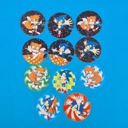 Sega Sonic set of 11 Flying Caps second hand (Loose)