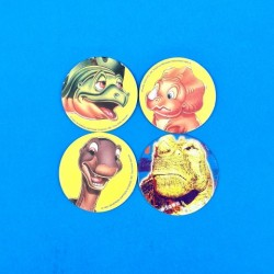 Set of 4 second hand Pog dinosaurs (Loose)