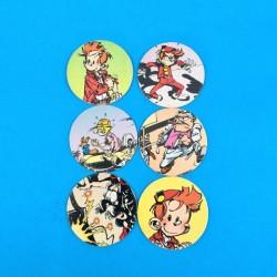 Spirou Set of 6 second hand caps (Loose)