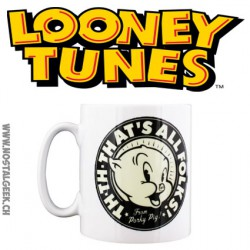 Looney Tunes That's All Folks White Mug