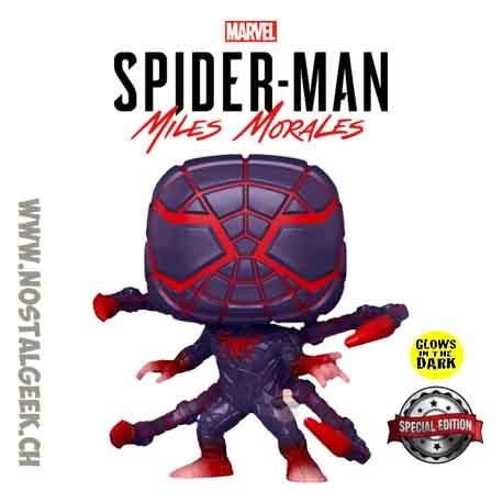 Funko Pop! Marvel Gameverse Spider-Man Miles Morales (Programmable Matter Suit) GITD Exclusive Vinyl Figure